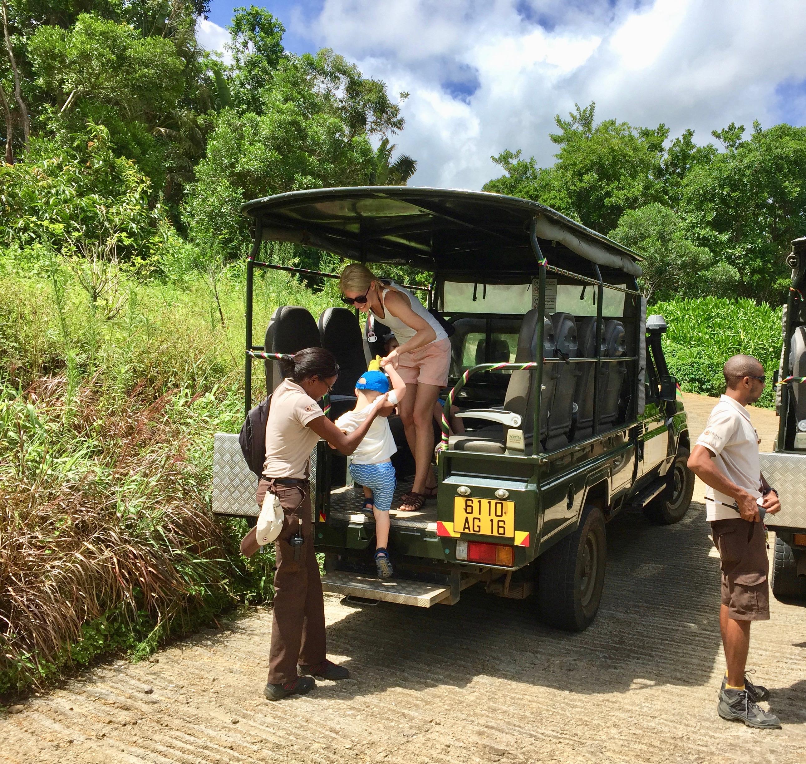 Ebony Forest Reserve utflykter på Mauritius med barn