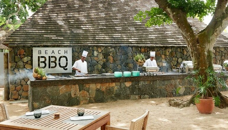 Cooks cooking in the beach restaurant