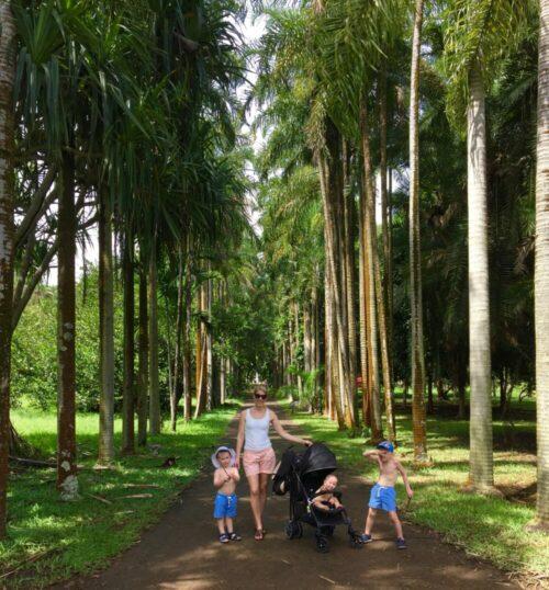 Mauritius with kids Pamplemousses Botanical Garden