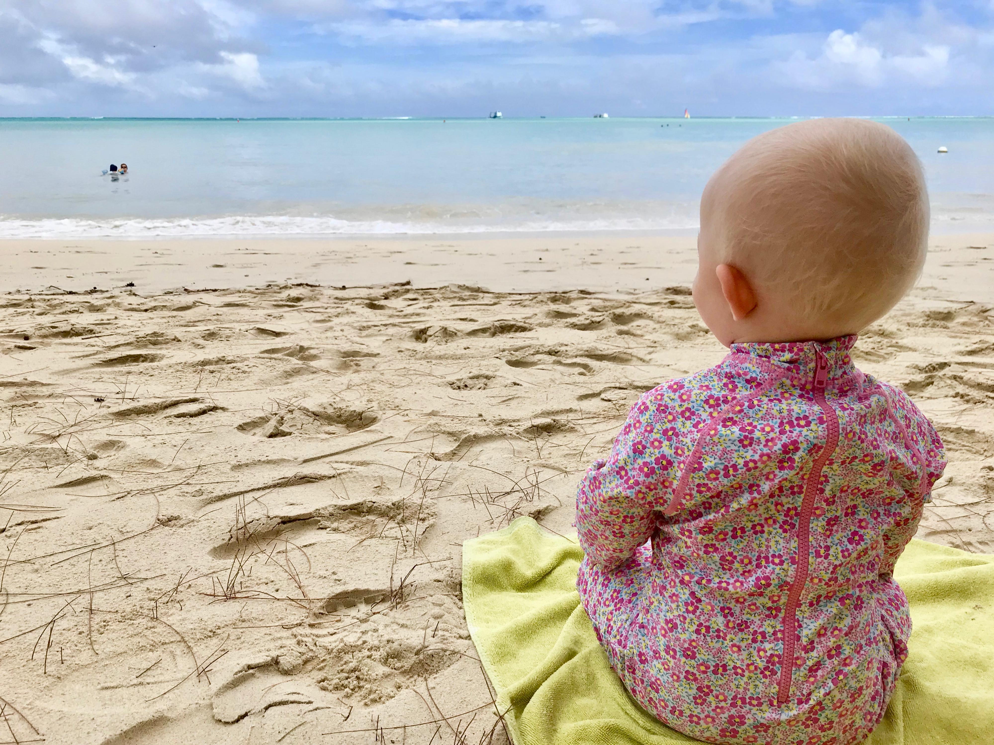 Children on Mauritius Beach