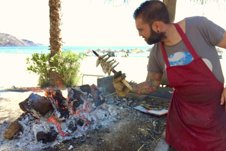 Restaurang på stranden i Almunecar