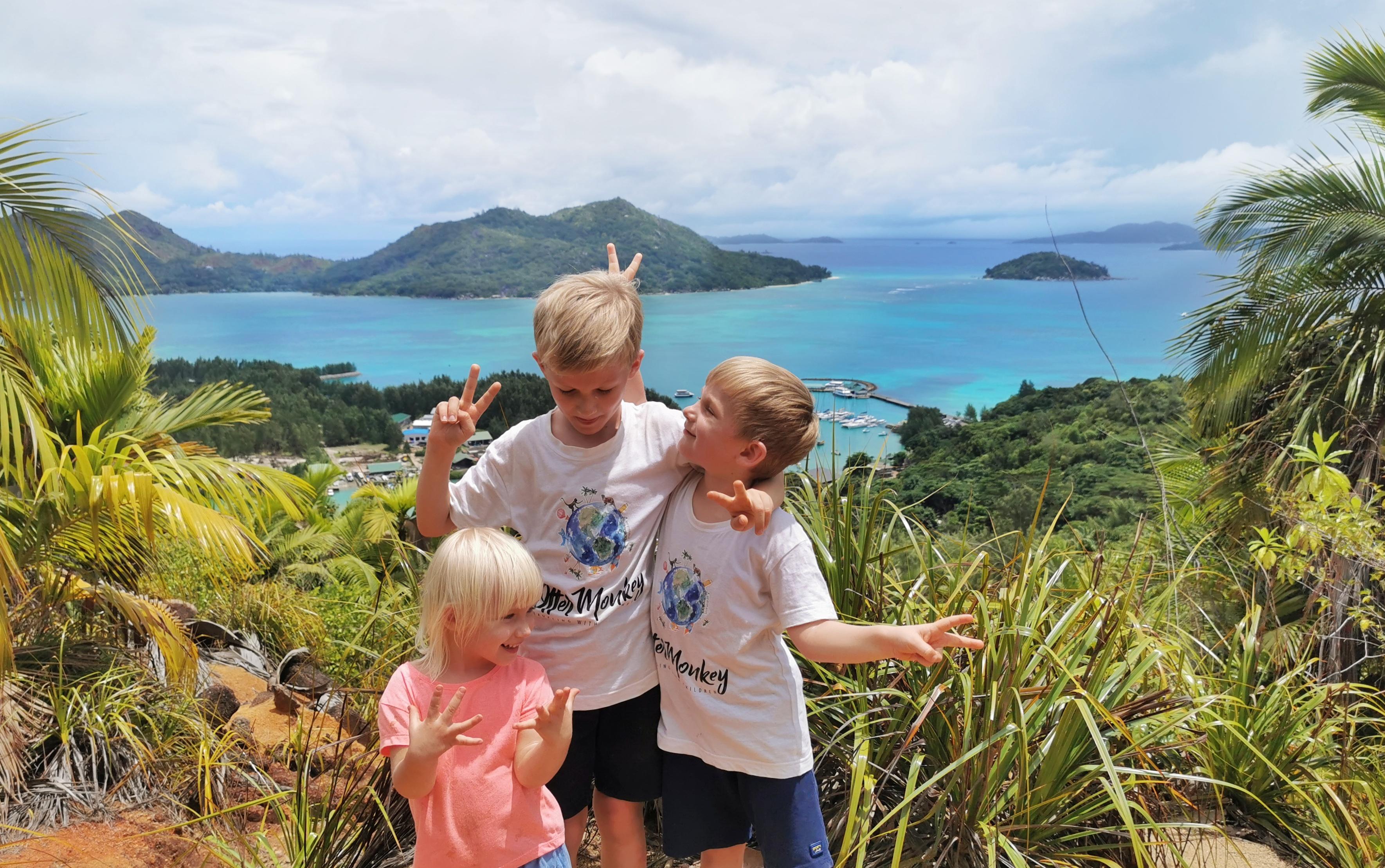 Fond Ferdinand nationalpark Praslin med barn