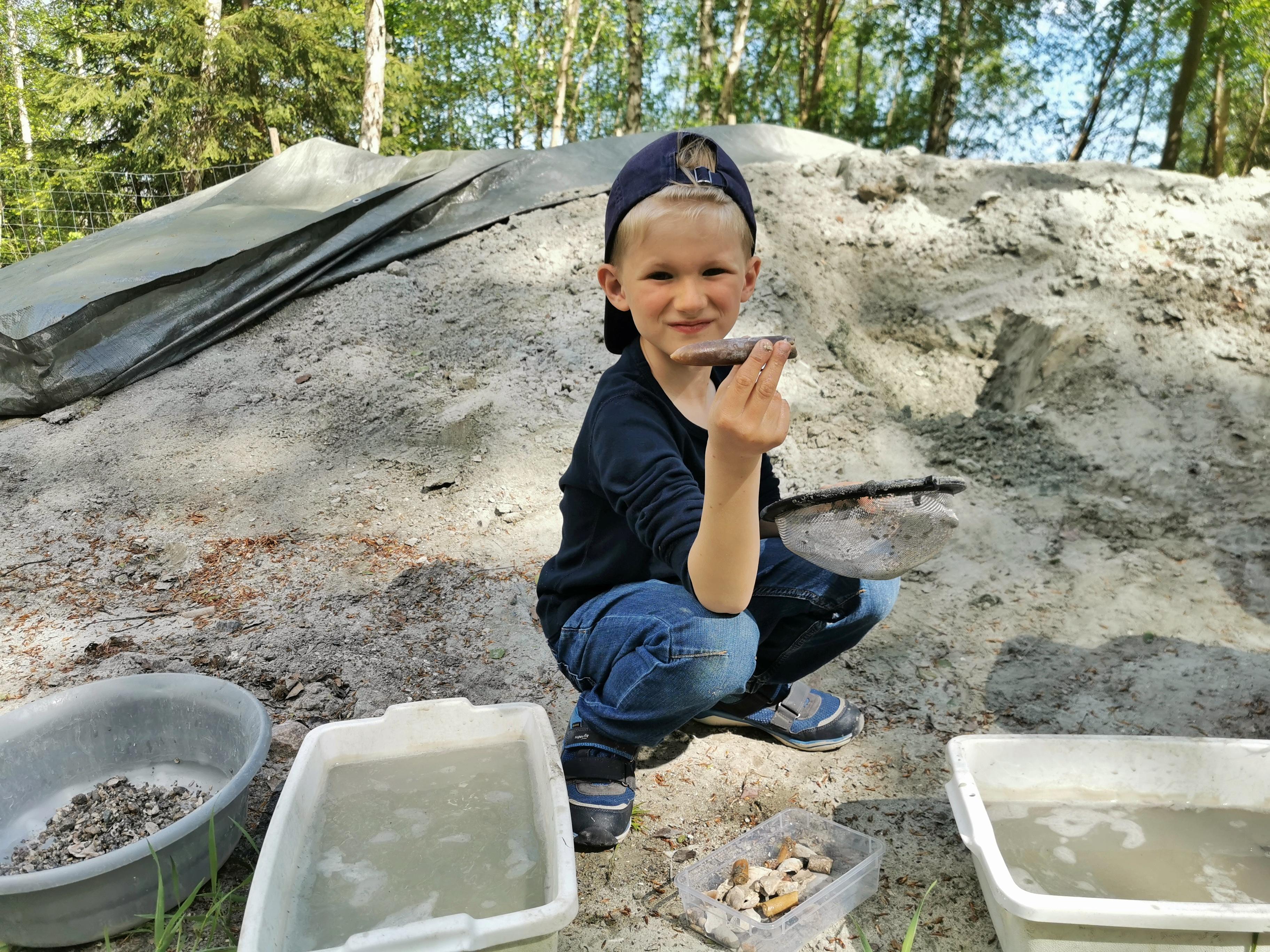 Leta efter fossil i Sverige