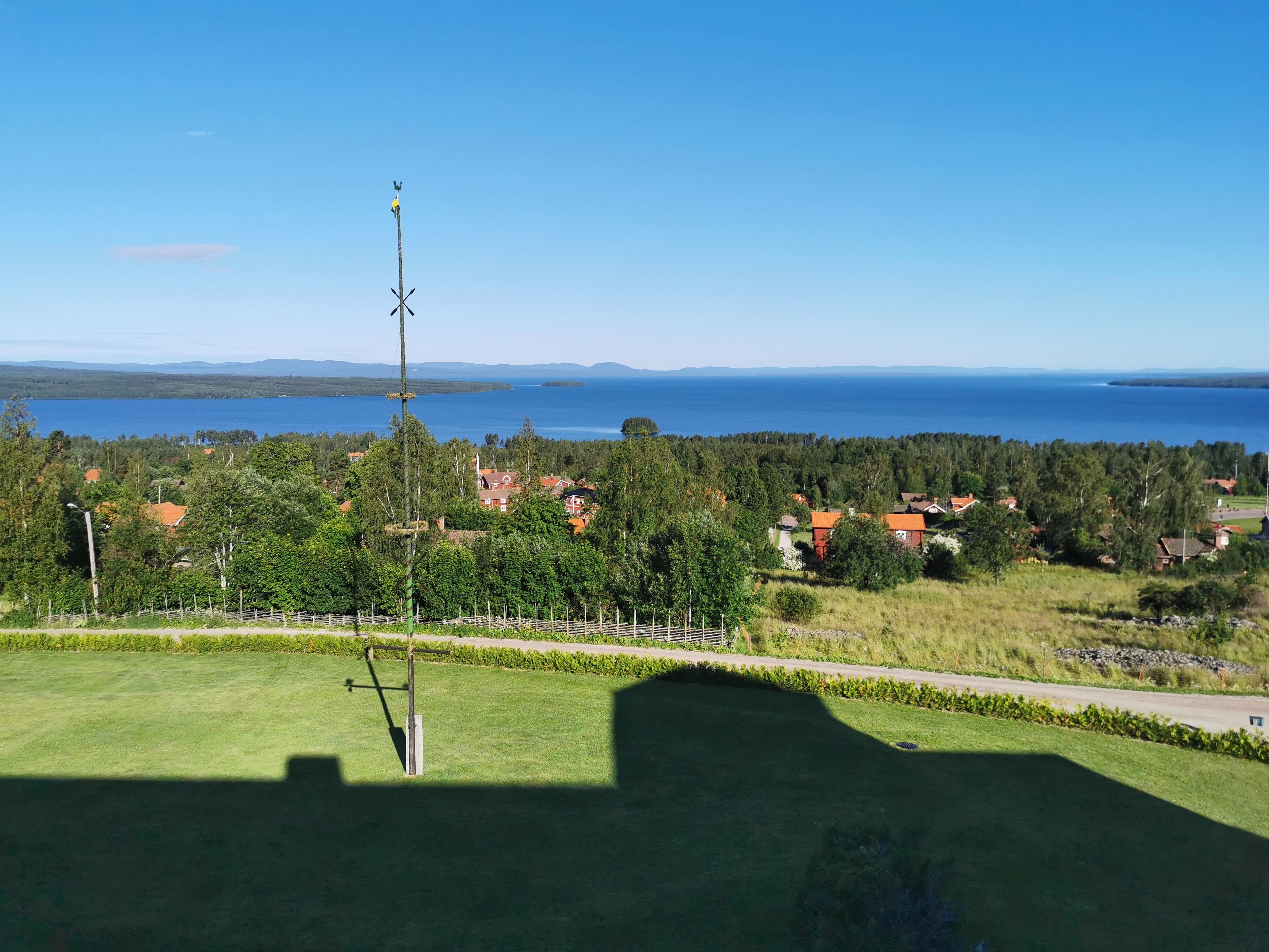 Vacker utsikt över Siljan från Green Hotel Dalarna