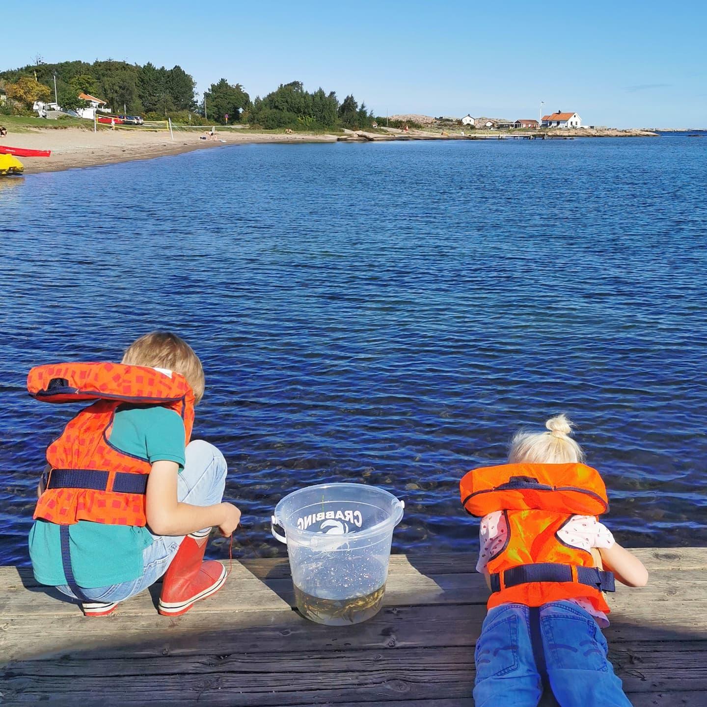 krabbfiske Ramsvik sandstrand